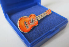 UKULELE Pin Badge Gold Plated Cloisonne Lapel Brooch Present Music - GIFT BOXED