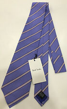 "Paul Smith BLUE MULTISTRIPE Tie ""MAINLINE"" 9cm Blade Made in Italy"