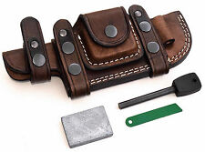 CFK Custom Handmade LEFT HAND TRACKER Horizontal Knife Sheath Wet Stone Fire Rod