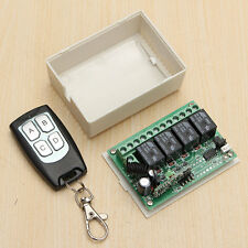 DC 12V 4 CH Channel RF 200M Wireless Remote Control Switch Transmitter +Receiver