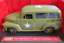 MIRA 1/18 6244 1950 CHEVROLET CARRYALL SUBURBAN US ARMY BOXED RARE MINT