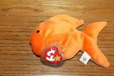 NEW TY RARE AND RETIRED BEANIE BABY BABIES GOLDIE THE GOLDFISH REALLY NICE MWMT