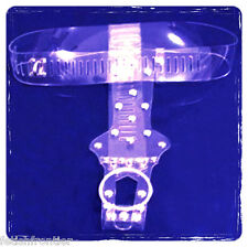 Pure clear transparent plastic female chastity belt