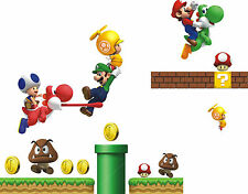 SUPER MARIO  WALL STICKER DECAL  NURSERY/KIDS/GIRLS/BOYS ROOM MURAL