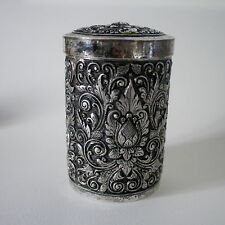 Yogya, Djokja Silver tobacco jar, indonesia / boite argent - 800/1000 -222 grs