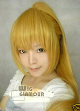 Cosplay Blond Heat Wig +One Clip on Ponytail