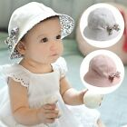 Baby Girl Cute Floral Sun Hat Cotton Summer/Spring/Fall Cap For 6-24 Months LD