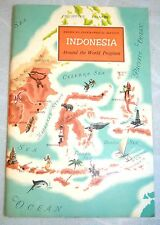 """1957 American Geographical Society """"Indonesia"""" Around the World Program Book"""