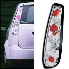 Ford Fiesta 3 Door 2002-2008 Clear Lens Chrome Rear Back Tail Lexus Lights -Pair