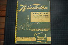 WAUKESHA 195GK Diesel ENGINE Parts Manual book catalog shop spare list OEM 1959