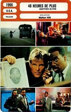 Movie Card. Fiche Cinéma. 48 heures de plus / Another 48 HRS (USA) 1990