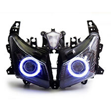 KT LED Angel Eyes HID Projector Headlight Assembly for Yamaha TMAX 530 12-14