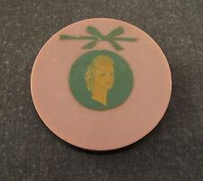 VINTAGE 60'S LADY WITH BOW  MARIA ESTUARDO SCREW PLASTIC POWDER BOX