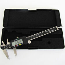 "6"" LED Screen Electronic Digital Vernier Caliper Tool SAE&Metric Measuring Jaws"