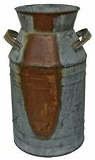 Tin Milk Can Rust Country Kitchen Decor Old Fashioned Jug Flower Vase Container