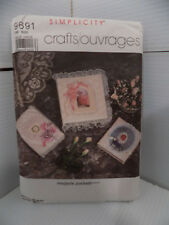 Simplicity Crafts 9691 Sewing Pattern Book Covers Frames Viintage 1985