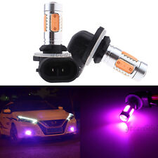 2X 881 H27W/2 Pink Purple COB LED Fog Driving Bulb Daytime Running Light 894 896
