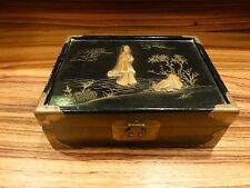 Old chinese lacquered box mother of pearl decoration, ca. 1960 [Y8-W7-A9-E9]