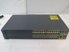 Lot of 2 Cisco Catalyst 2960 WS-C2960-24TC-L 24-Port LAN Base Switch