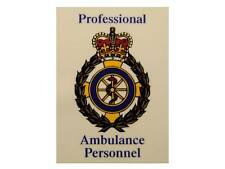 Professional Ambulance Personnel Car Badge / Window Sticker for Paramedic, EMT
