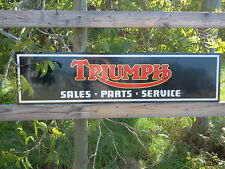Vintage style Triumph Motorcycle Sign 1'x4' DEALER METAL, aluminum NEW!