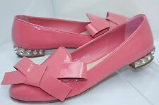 Miu Miu Womens Shoes Ballerina Flats Size 38 Calzature Donna Pink Leather NIB
