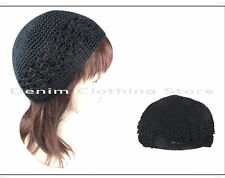 100% Cotton Yarn Knit Crochet Beanie Warm Solid Color Winter Blank Skull Cap Hat