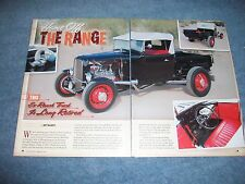 "1931 Ford Roadster Pickup Truck Hot Rod Article ""Home Off the Range"""