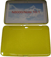 Pattern Gel Case Protector Cover Yellow For Samsung Galaxy Note 10.1 N8000 N8010