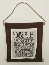 House Rules Sign Brown Perfect For New Home Housewarming Gift  Shabby Chic