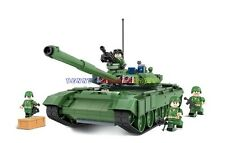 1 x New Russia Army T-90A Main Battle Tank with 5 Minifigures Building Block