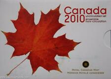 2010 Canada Uncirculated Coin Set By Royal Canadian Mint Limited Issue