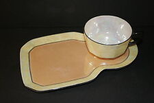 Vintage German Luster Ware Iridescent Art Deco Snack/Tennis SET with cup