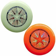 Discraft UltraStar 175g Ultimate Frisbee Sport Disc (2 Pack) GLOW/ORANGE