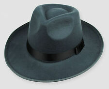 dark grey Men Black Jazz Wool Trilby Bowler Fedora Panama Hat Gangster Cap
