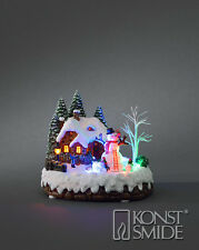 Xmas Animated Moving Decoration LED House Rotating Snowman & Family Light Scene