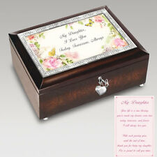 Daughter Music / Trinket Box with Blank Tag to Personalize -  Bradford Exchange
