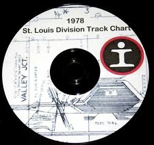 Illinois Central Gulf 1978 St Louis Division Track Profile PDF Pages on DVD
