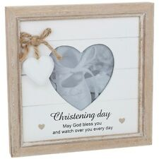 Provence Message Heart Photo Frame - Christening Lovely Gift Idea NEW  24719