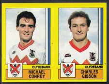 Panini Football 1987 Sticker - No 483 - Clydebank - Michael Conroy & Gibson