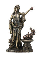 Hestia Vesta Statue Greek Roman Goddess of Home and Hearth Flame #WU76041A4