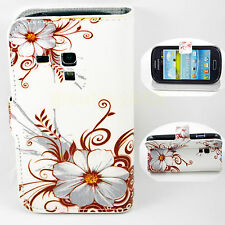 Flip Leather Stand Wallet Soft Case Cover For Samsung Galaxy S3 III Mini i8190