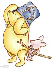 """3.5"""" DISNEY CLASSIC POOH & PIGLET PREPASTED WALL BORDER CUT OUT"""