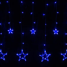 12 Twinkling Stars Christmas Fairy String Lights Window Display 138 LED Blue