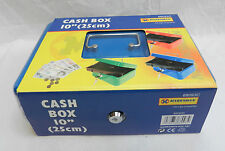 Enamelled Steel Cash Box & 2 Keys - Handy Travel Jewellery Case - NEW