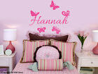 Butterflies & FREE PERSONALISE Name Removable wall sticker  for kids / Nursery