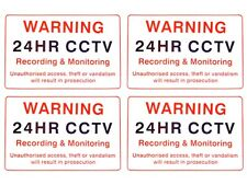 CCTV Camera Signs x 4 - 300 x 200mm (A4) 24hr Security Camera Warning Signs