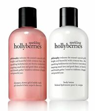 PHILOSOPHY SPARKLING HOLLYBERRIES DUO GIFT SET KIT 8 OZ EA SHOWER GEL & LOTION