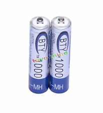 2x batteria AAA 1000mAh 1.2V Ni-MH ricaricabile 3A BTY cellulare per MP3 RC Toys