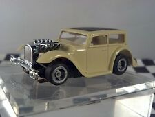 1932 Chopped Hot Rat Rod Tan Black Roof  Sedan  HO Scale Slot Car Body Only